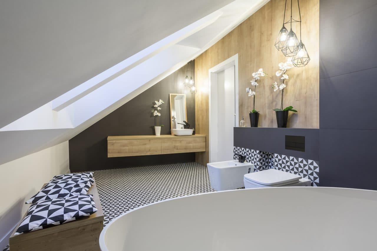 aménagement combles salle de bain éclairage