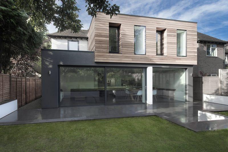 extension de maison en bois et maçonnerie
