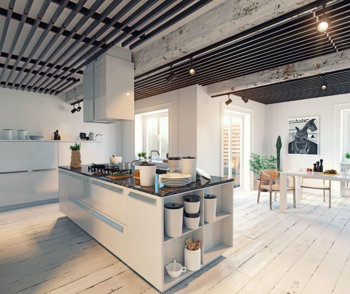 rénovation cuisine ouverte sur salon