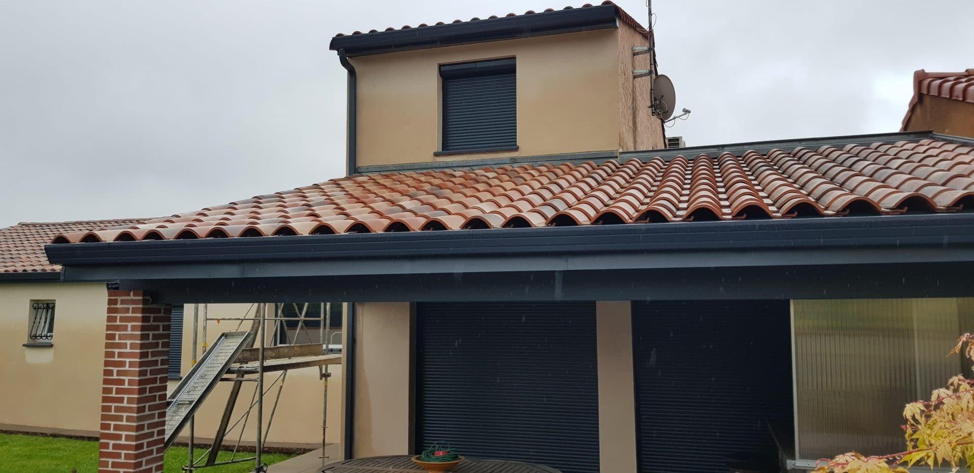 Rénovation d'une façade de maison à Eaunes (31)