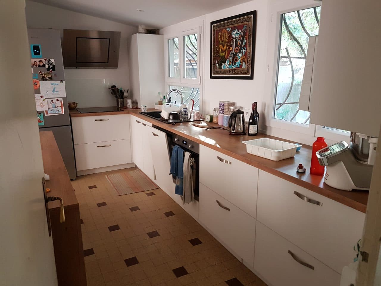 Faux Plafond Cuisine Ilot maison entièrement rénovée à lyon 5 (69) - un projet illico travaux