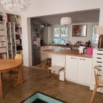 rénovation maison menuiserie cuisine ilot central faux plafond Lyon 5