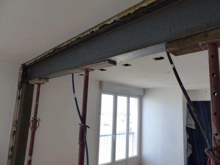 Casser un mur porteur : exemple d'une réalisation à Saint Nazaire (44)