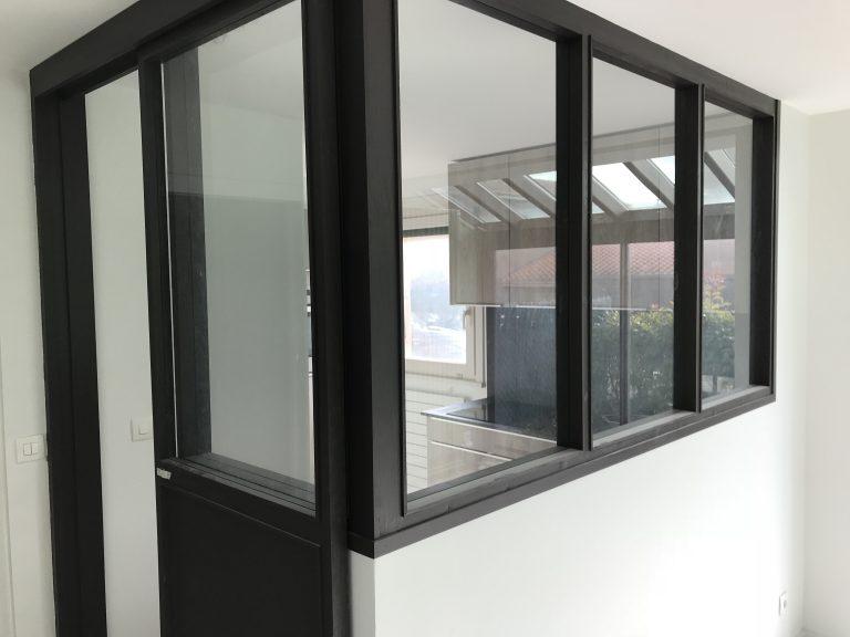 Rénovation de maison avec verrière d'intérieur à Lyon 9 (69)