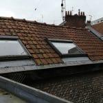 création grande lucarne fenêtre toit velux avant travaux Lille