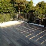 création toit terrasse carrelage lame imitation bois garde corps grille alu Chanteloup-en-Brie