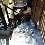 création toit terrasse jardin escalier métal Chanteloup-en-Brie