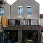 création toit terrasse pendant travaux extension de maison Chanteloup-en-Brie