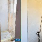 rénovation appartement salle de bain douche carrelage faïence Antibes