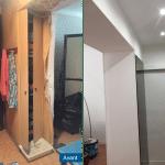 rénovation appartement entrée faux plafond spots revêtement peinture Antibes