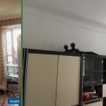 rénovation appartement salon peinture menuiseries fenêtre Antibes
