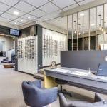 rénovation magasin optique peinture panneaux muraux meubles bureaux menuiserie Châtellerault