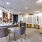 rénovation magasin optique meubles bureaux panneaux muraux peinture vitrine Châtellerault