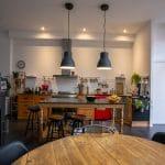 rénovation surélévation maison cuisine ouverte poêle à bois Bègles