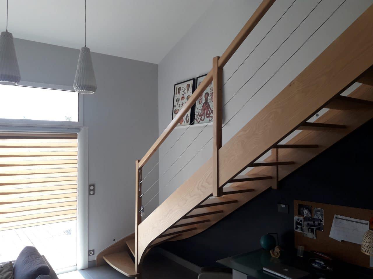 rénovation maison peinture escalier Echiré