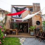 rénovation maison extérieur échoppe bordelaise surélévation bois Bègles