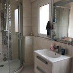rénovation salle de bain meuble vasque suspendu bac à douche paroi verre carrelage mural miroir Bischeim