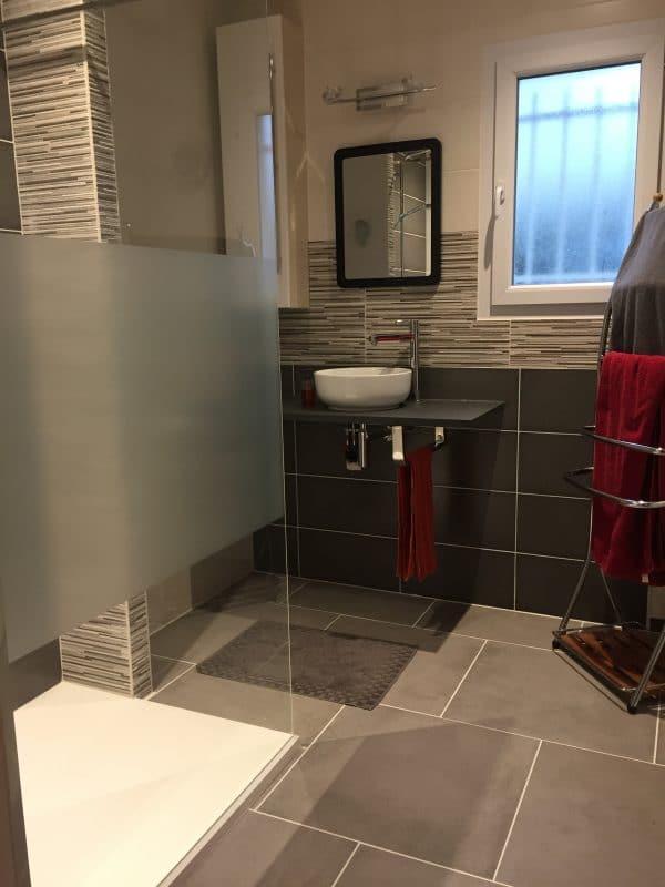 rénovation salle de bain carrelage faïence douche