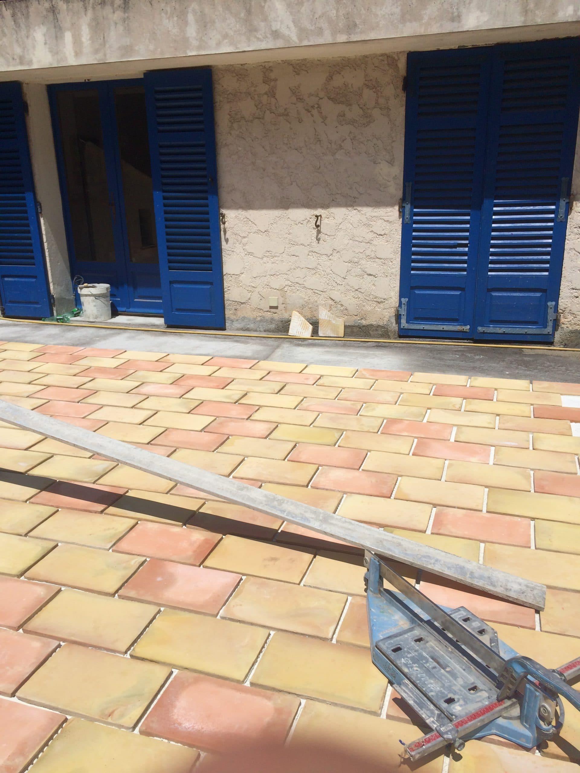 Rénovation d'une terrasse de maison provençale à Cannes (06)