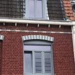 travaux rénovation menuiserie fenêtre PVC coloris gris store volets roulants Lambersart