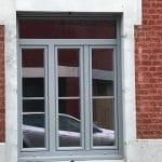 travaux rénovation menuiserie fenêtre PVC coloris gris Lambersart