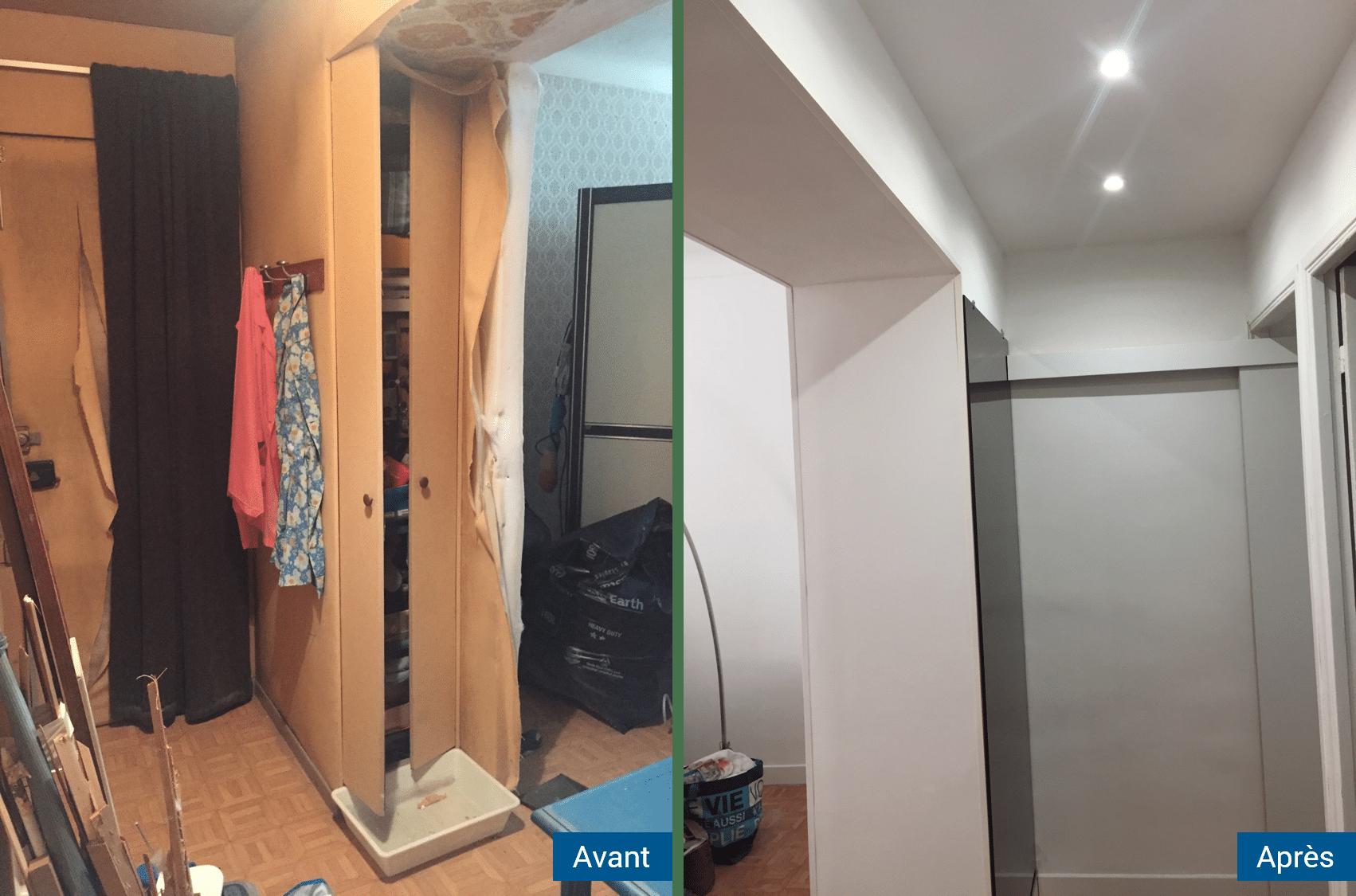 Avant/Après d'une rénovation d'appartement à Antibes (06)
