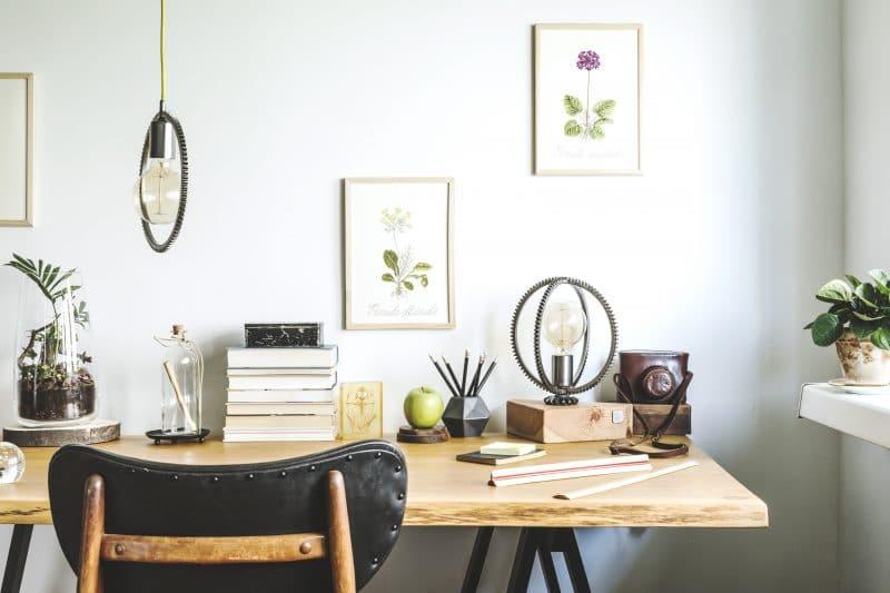 création d'un bureau chez soi