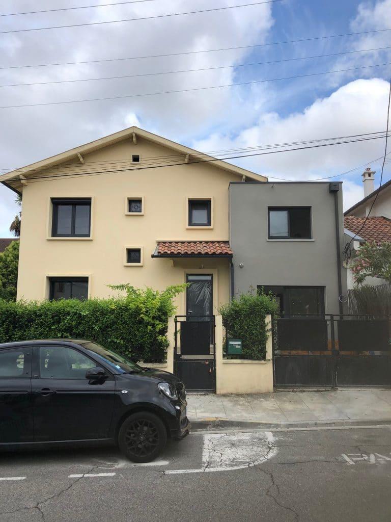 surélévation et extension maison à Toulouse