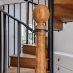 rénovation maison escalier bois rambarde acier Chazay d'Azergues