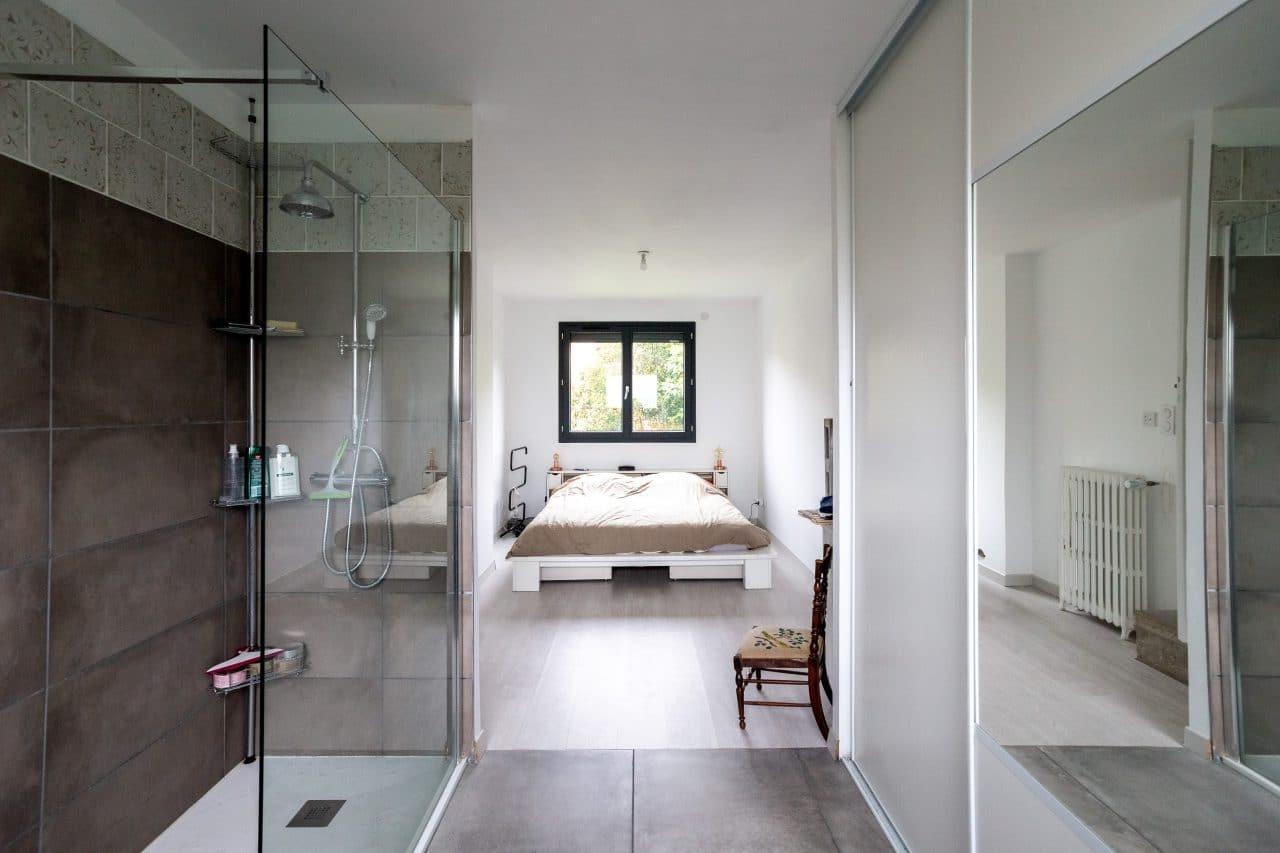 rénovation maison Toulouse suite parentale avec salle de bain