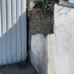 rénovation poteau mouluré mur d'enceinte effondré Villeurbanne