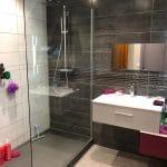 rénovation salle d'eau douche receveur faïence meuble vasque miroir Annay-sous-Lens
