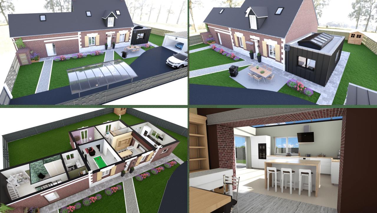 plans 3D pour travaux de rénovation maison