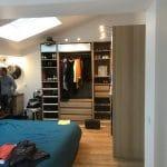 aménagement chambre suite parentale ancien garage placard dressing parquet velux Labastide-Saint-Sernin