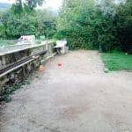 création espace piscine jardin de maison avant travaux Villefranche-sur-Saône