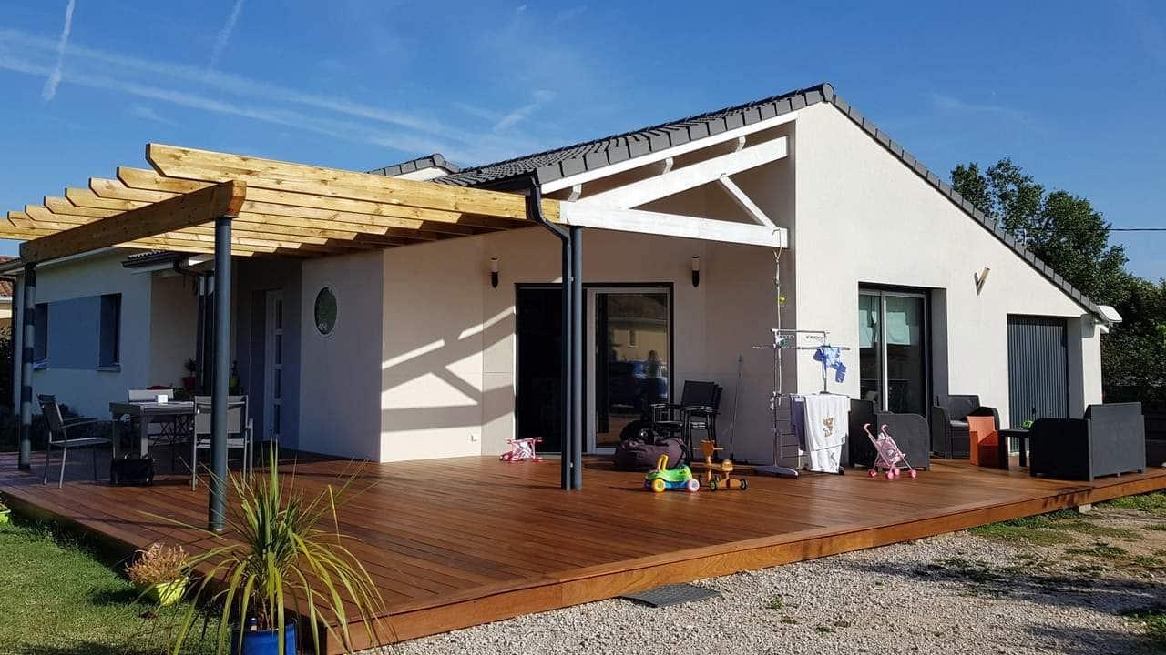 création d'une terrasse avec pergola