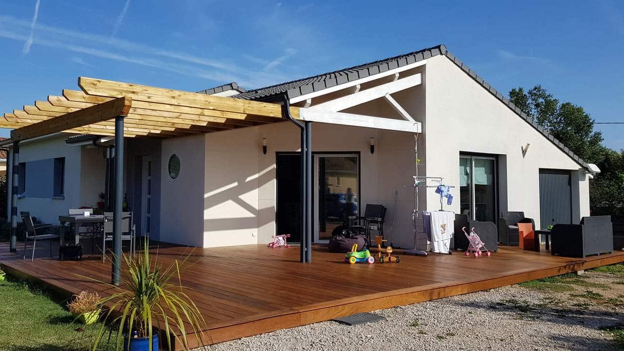 Création d'une terrasse en bois à Muret (31)