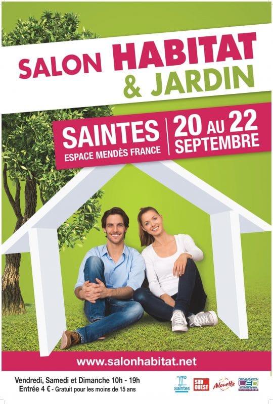 affiche du Salon Habitat & Jardin de Saintes 2019