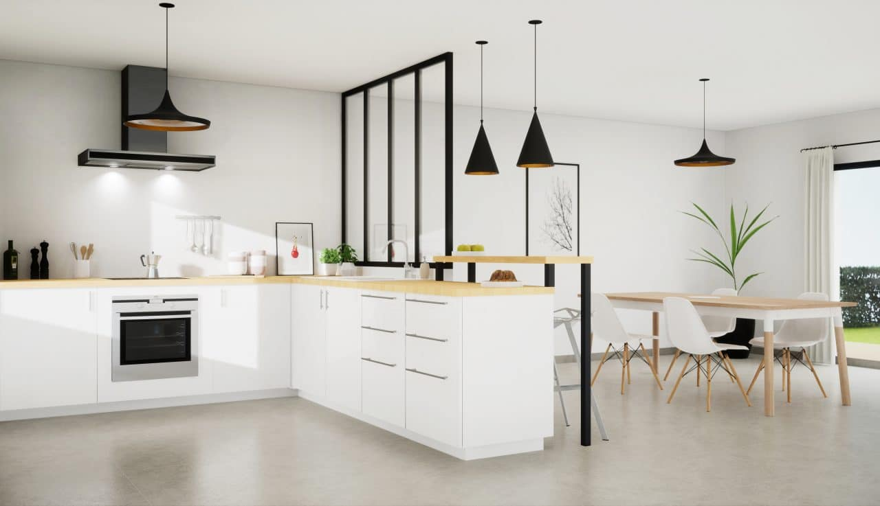 cuisine moderne après rénovation