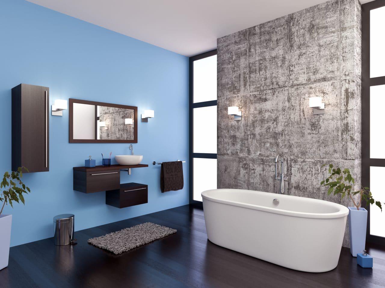 Salle de bain rénovée design