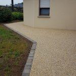 aménagement extérieur allée nid dagravel gravillons Lorient