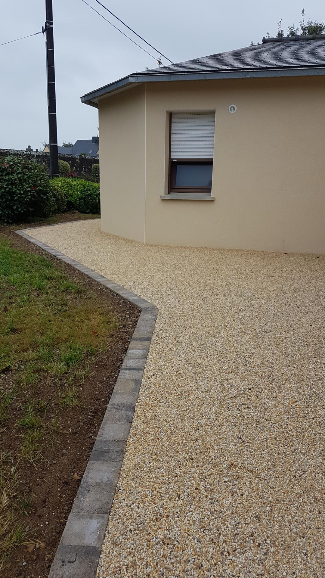 Aménagement Extérieur Entrée Maison aménagement d'extérieur avec rénovation d'une allée à lorient en 3 jours