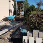 aménagement extérieur allée pendant travaux mise en forme Lorient