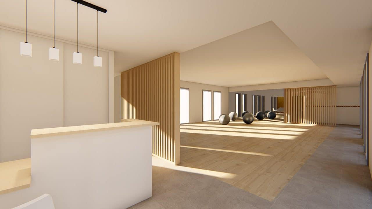 amenagement salle de pilates Plan 3D Riantec