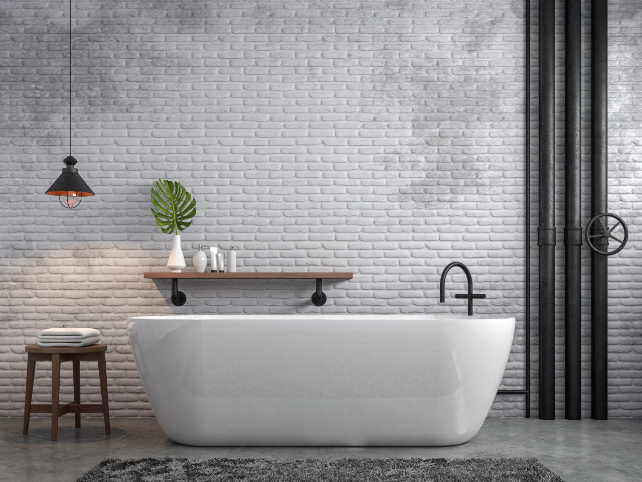 renovation salle de bain avec béton ciré