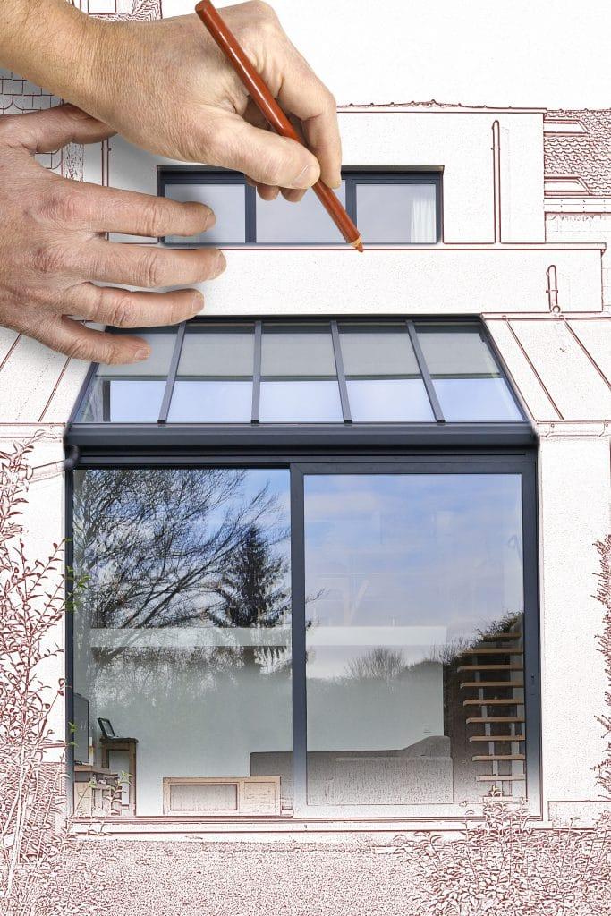 plan extension avec veranda