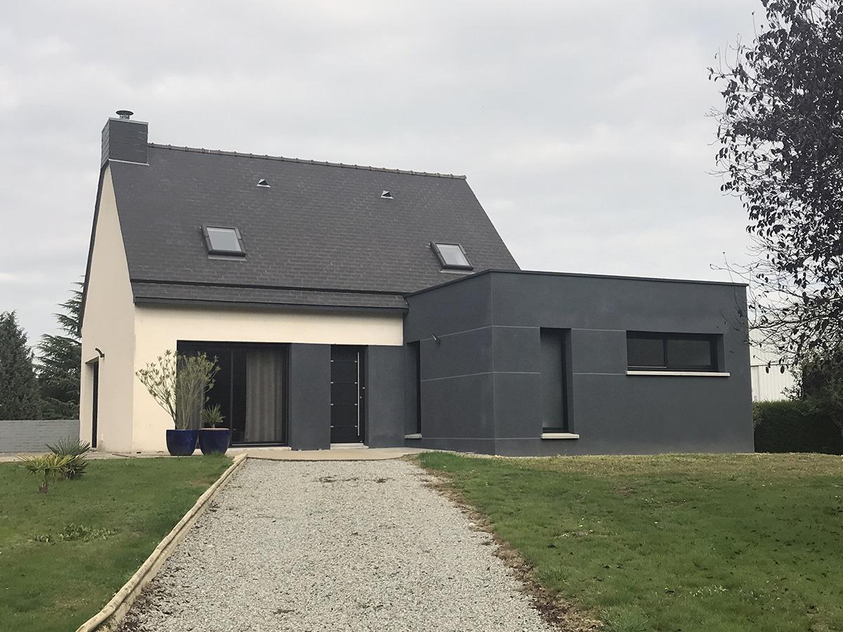 Devis Extension Maison  Saint-Malo → Agrandissement Bois, Acier, Parpaing