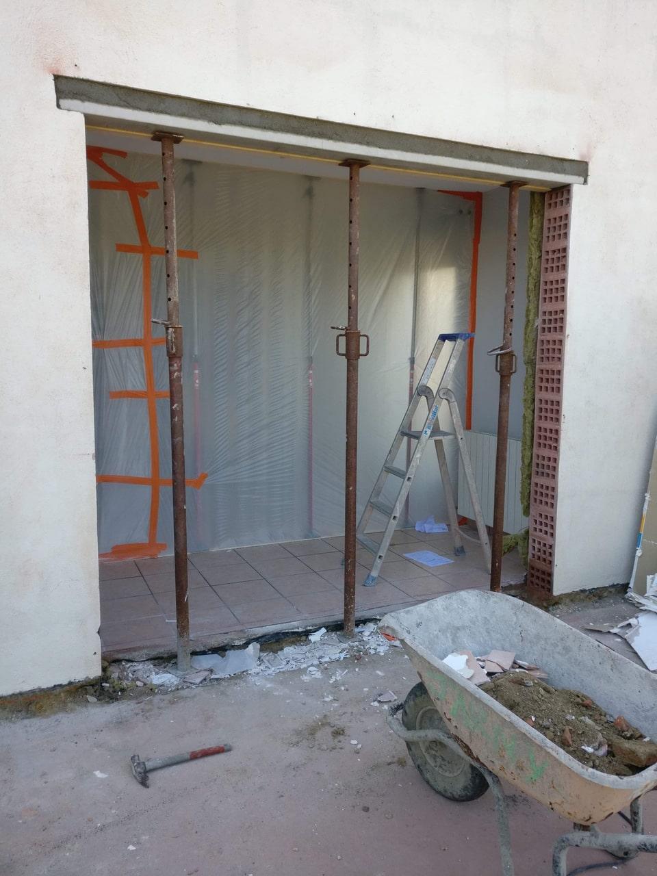 Ouverture d'un mur porteur pour créer une baie vitrée à La Roche-sur-Yon (85)