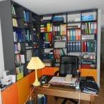 rénovation appartement bureau parquet chêne massif rangement bibliothèque Sainte-Foy-lès-Lyon