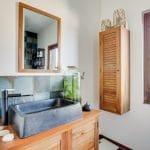 rénovation maison salle de bain meuble vasque miroir Bron